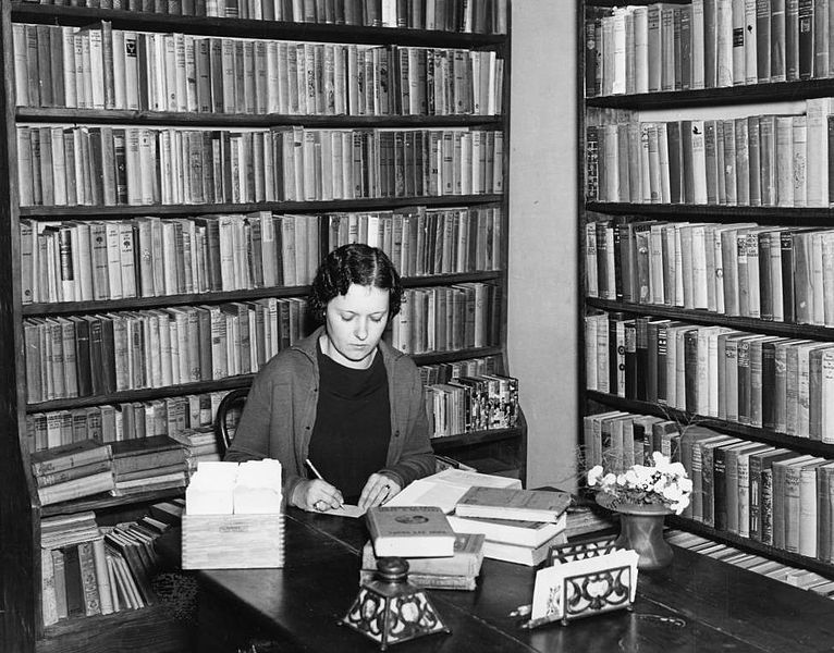 Librarian working at the Pointe Coupee Parish Parish library in New Roads Louisiana in 1936