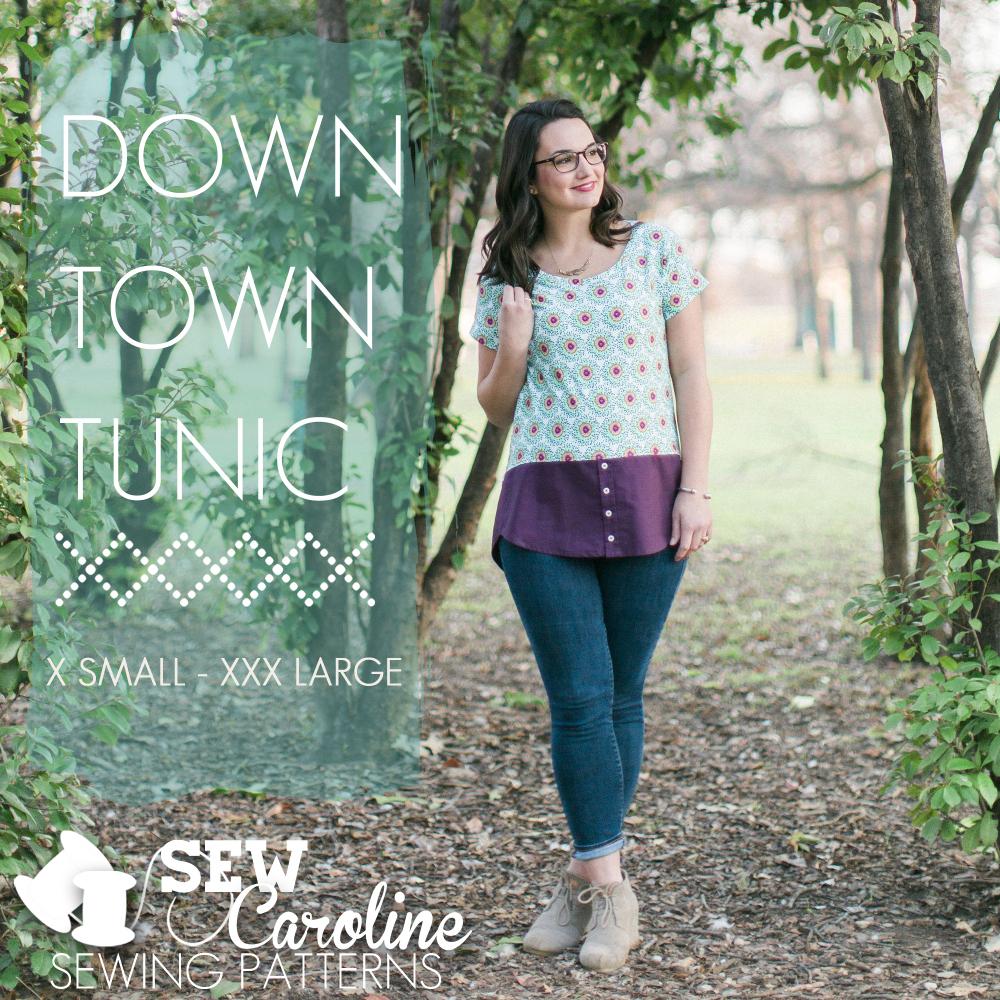 sew caroline downtown tunic sewing pattern