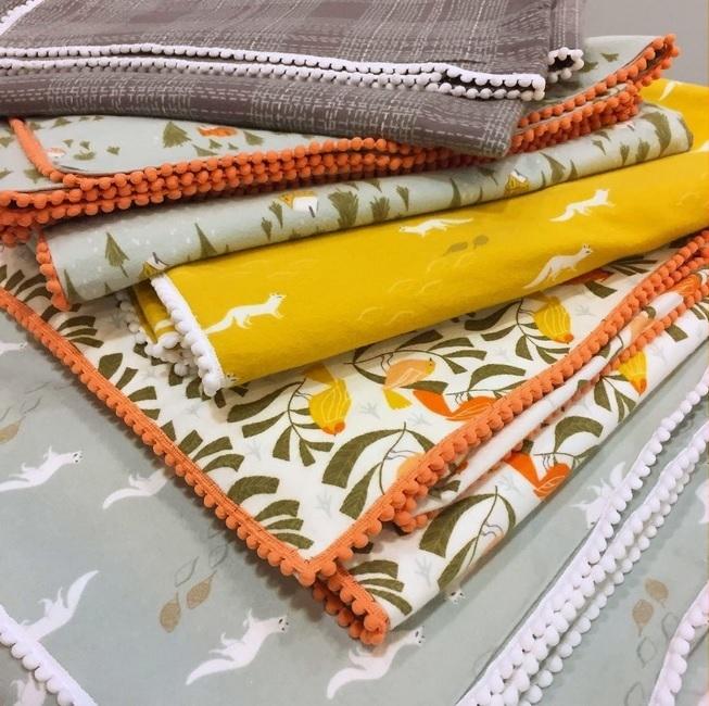 Winter Cabin Flannel Blankets