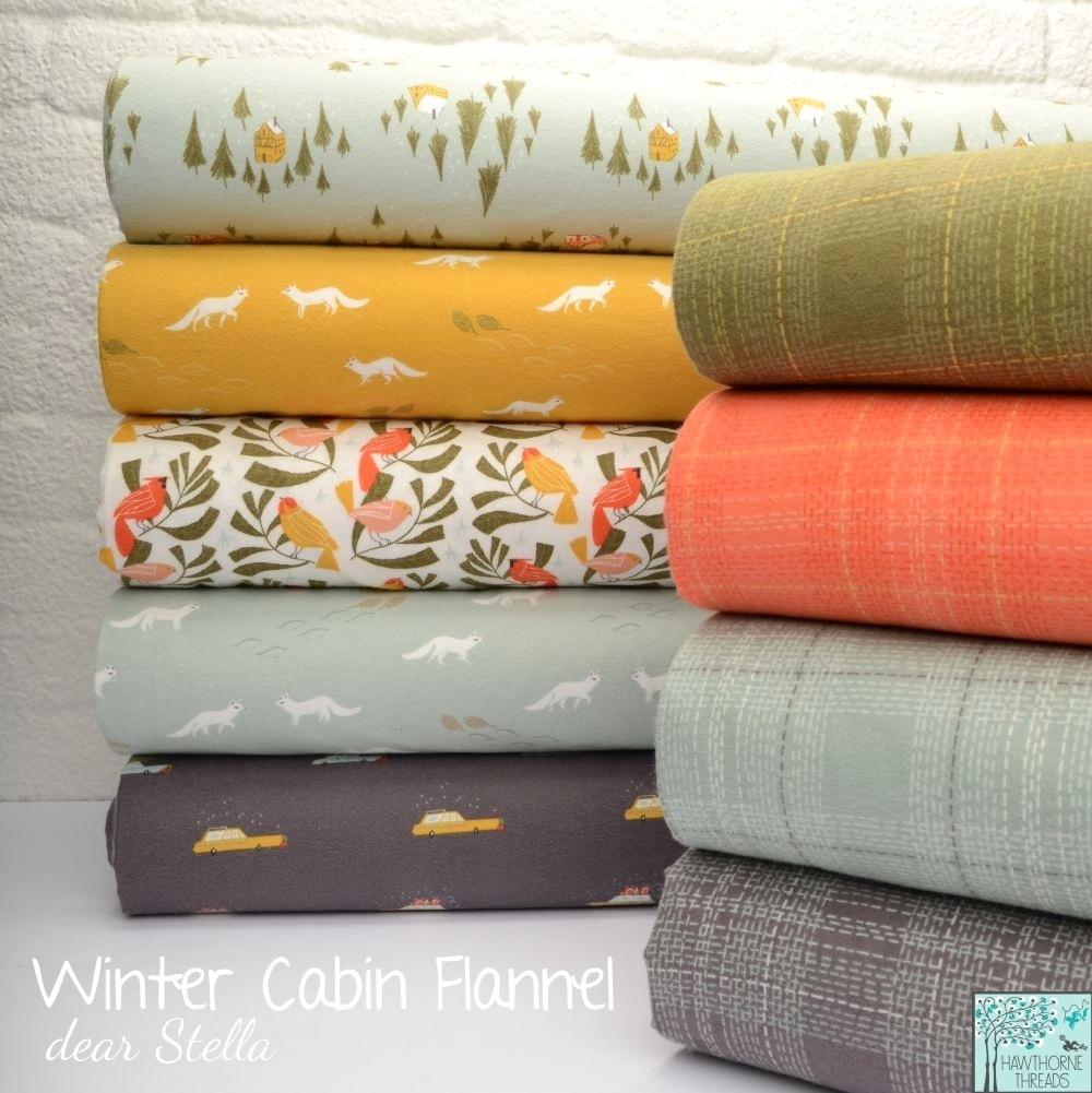 Winter Cabin Flannel Poster