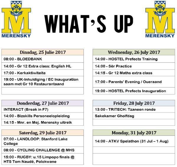Whats Up 25-31 Julie 2017