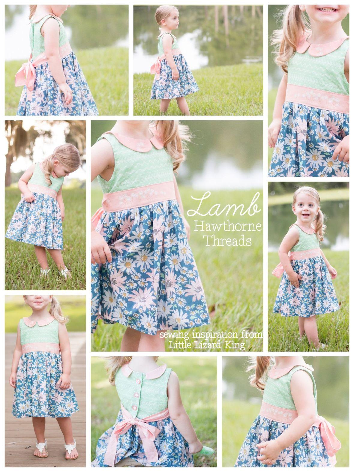 Hawthorne Threads Lamb Fabric Little Lizard King Dress