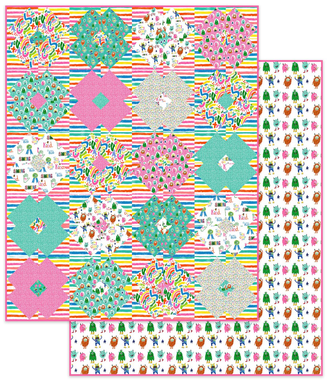 Flower Tile Girls Quilt