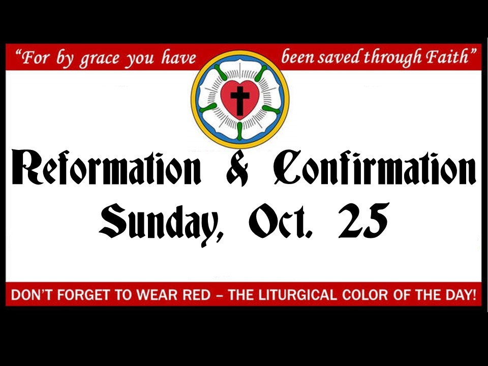 Reformation and confirmation for website