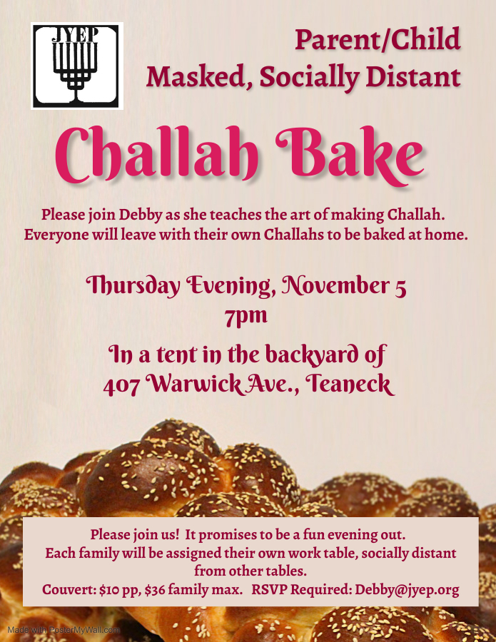 Copy of Grand Challah Bake Flyer - Made with PosterMyWall