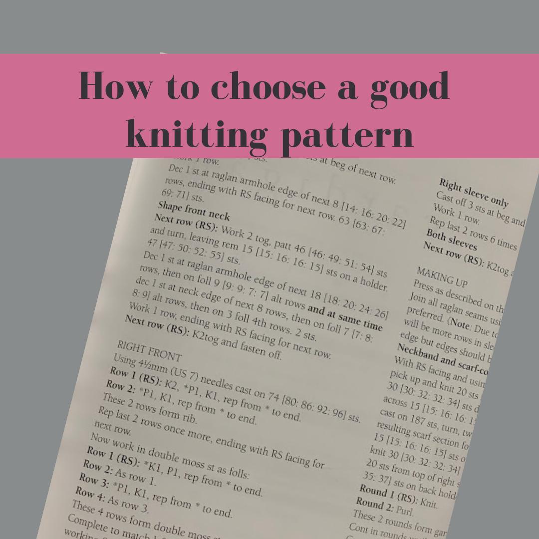 good knitting pattern square