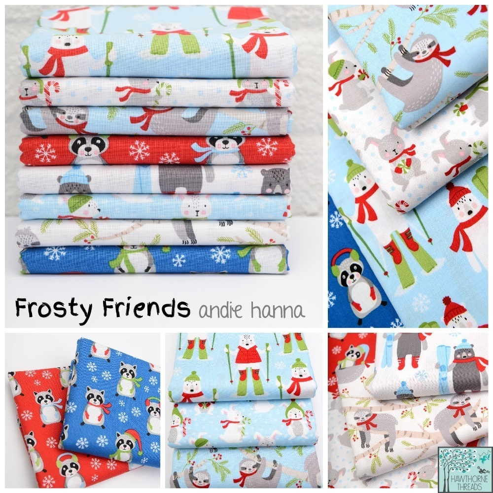 Frosty Friends Fabric poster