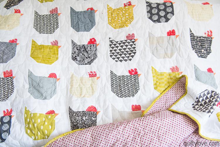quiltylove EmilyDennis chicken quilt-5006