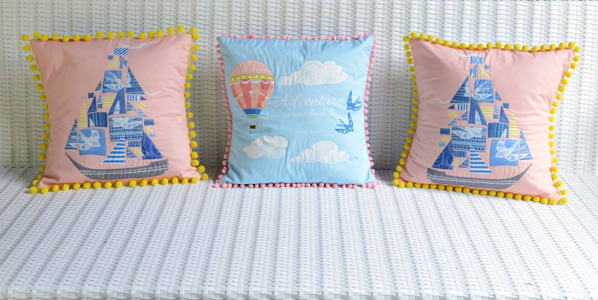Voyager Fabric Pillows