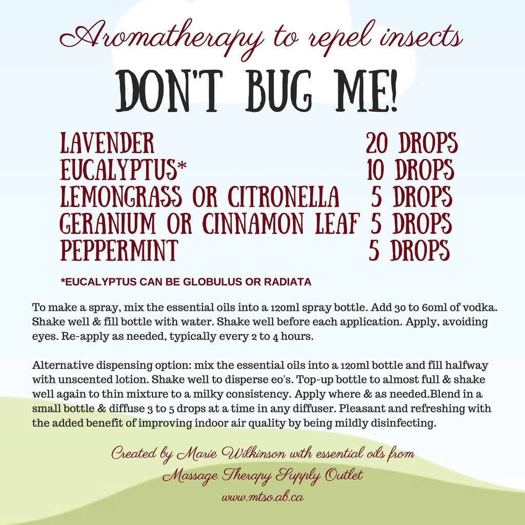 Natural bug spray - essential oils from MTSO 1024x1024