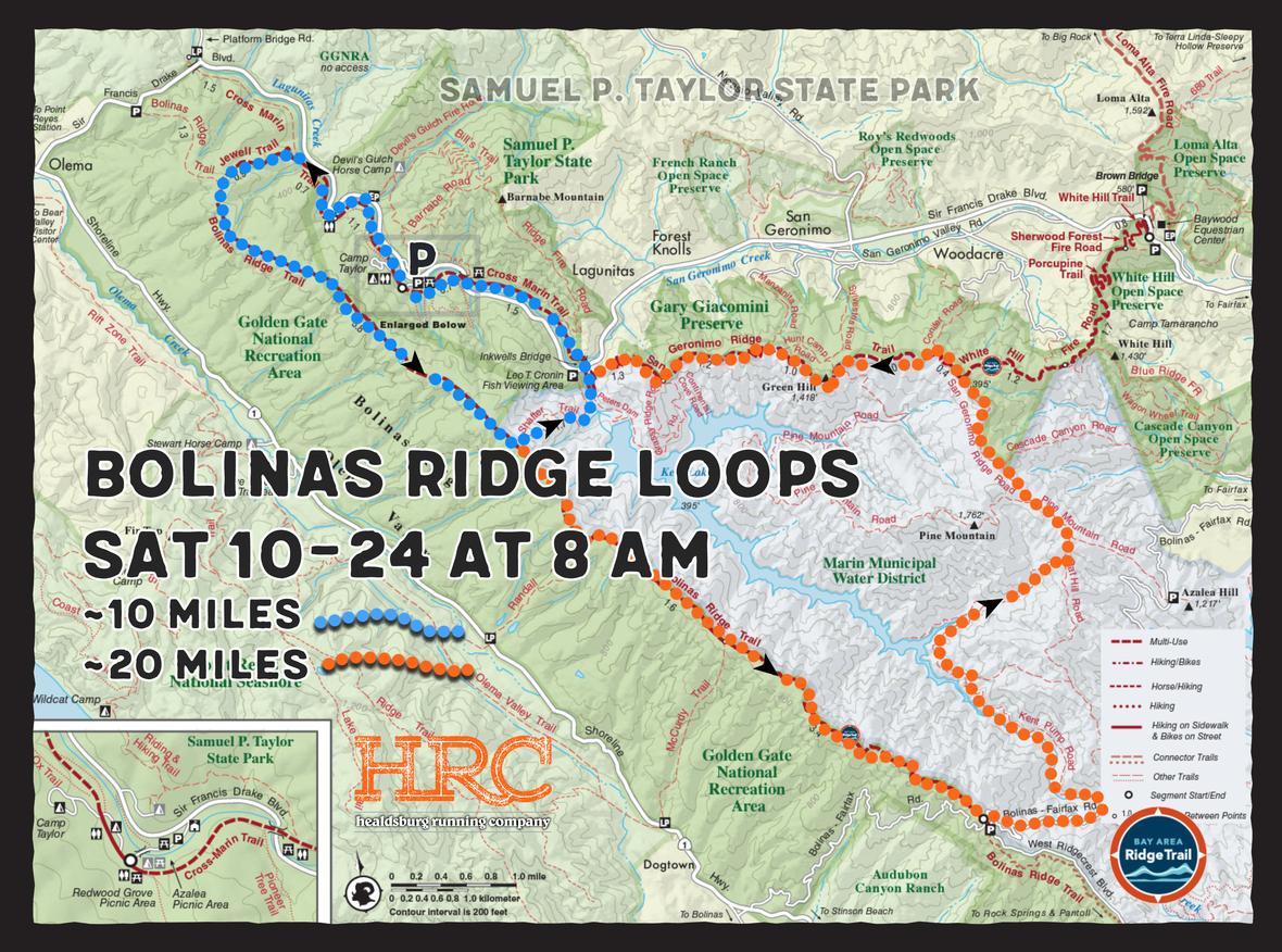 Bolinas Ridge map