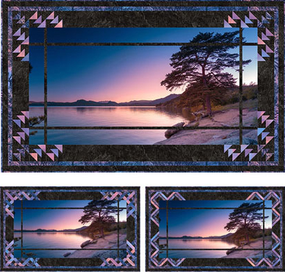 glass lake quick switch revolution quilt from Pine Tree country quilts