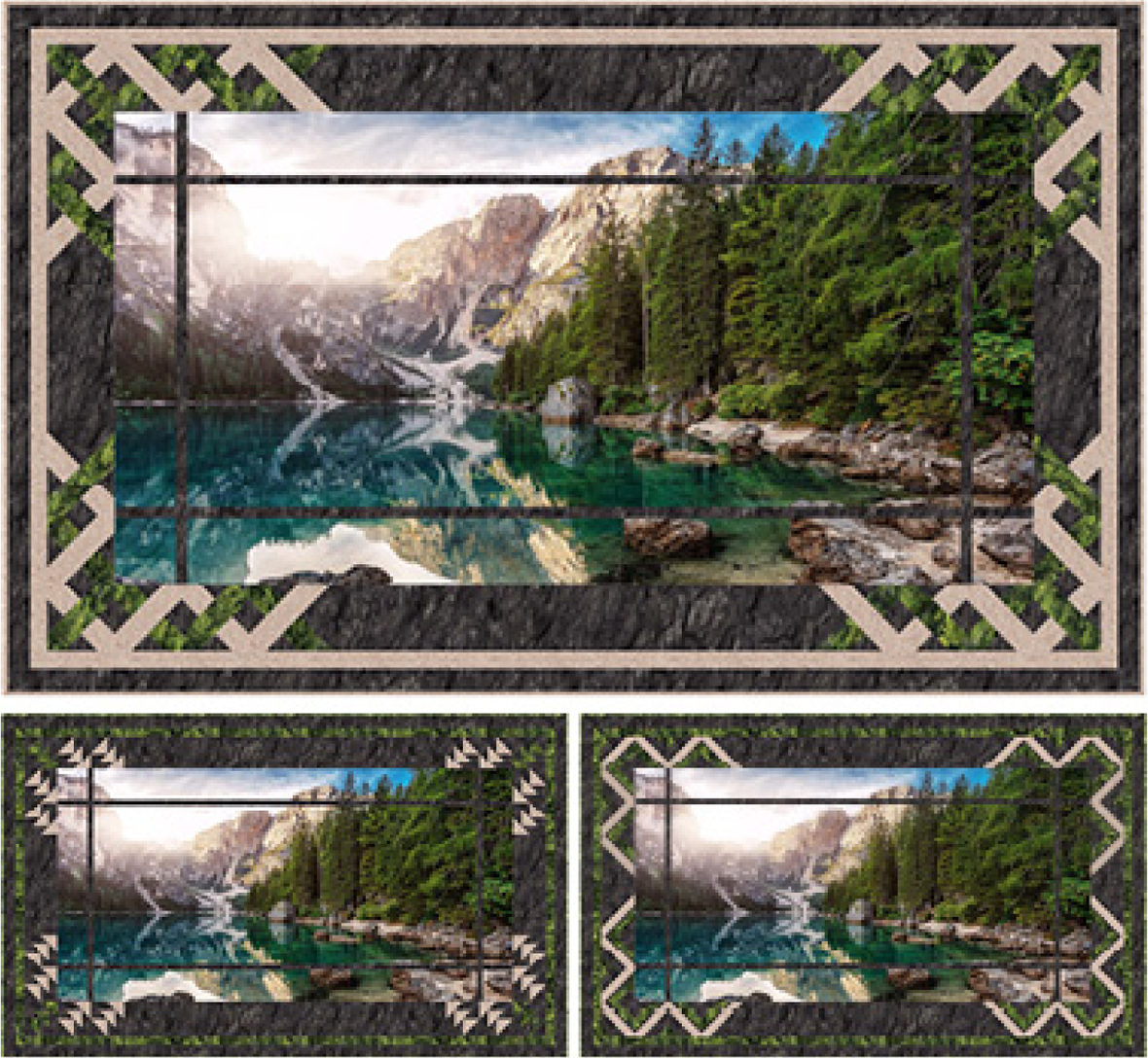 mountain vista quick switch revolution quilt from Pine Tree country quilts