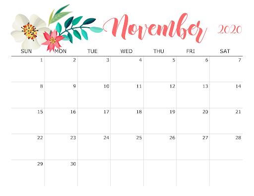 Printable-November-2020-Free-Calendar