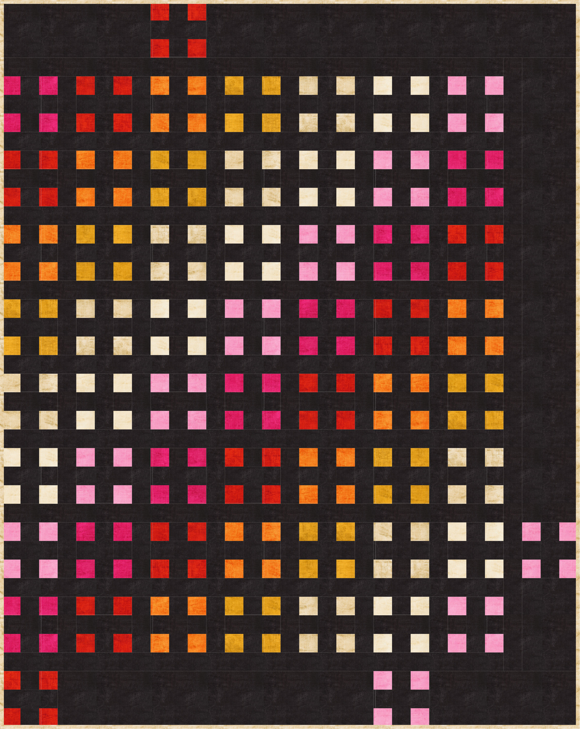 Chalk and Charcoal Patch Nine pattern by orange dot quilts