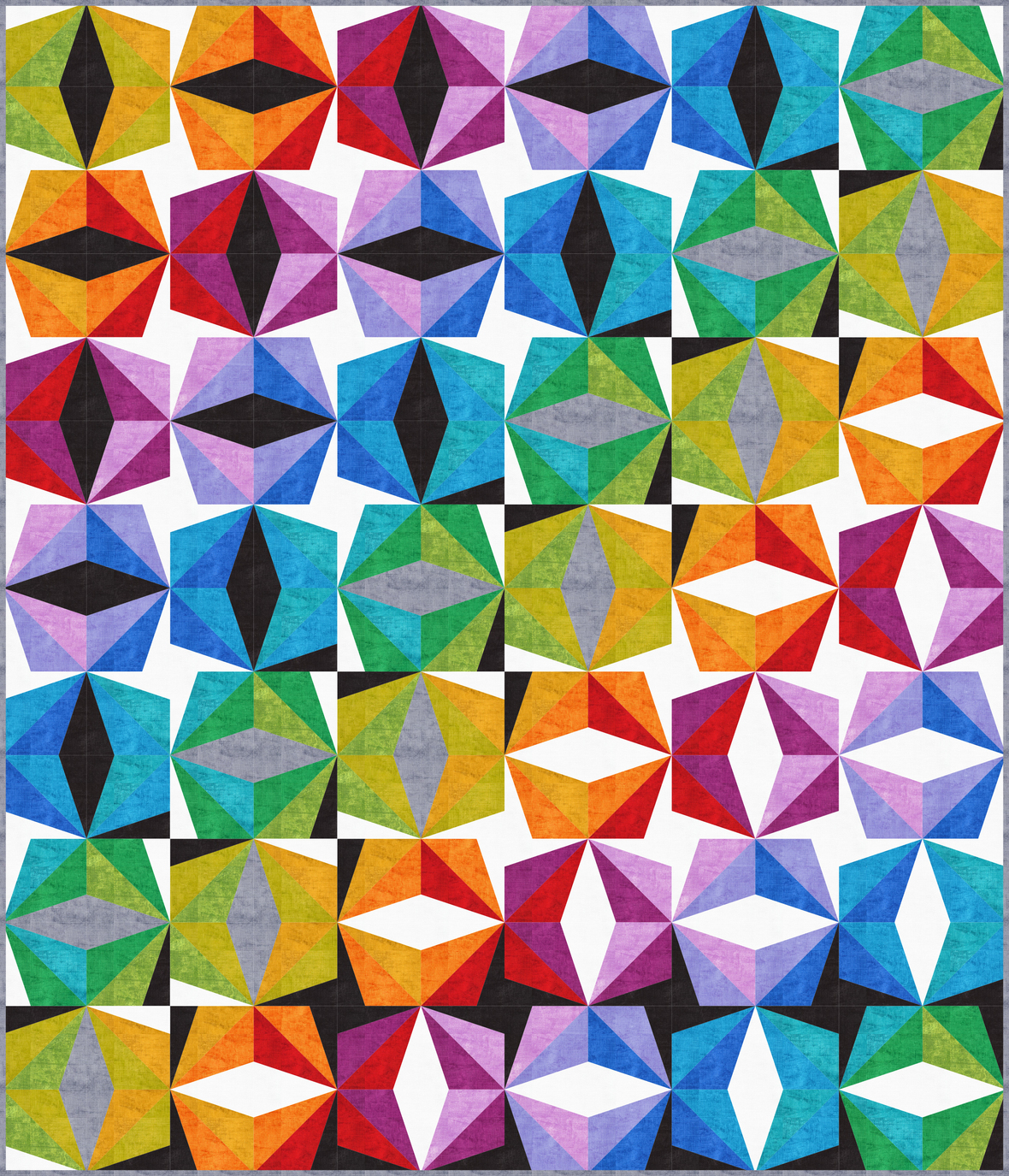 Chalk and Charcoal Prismatic pattern by Colourwerx