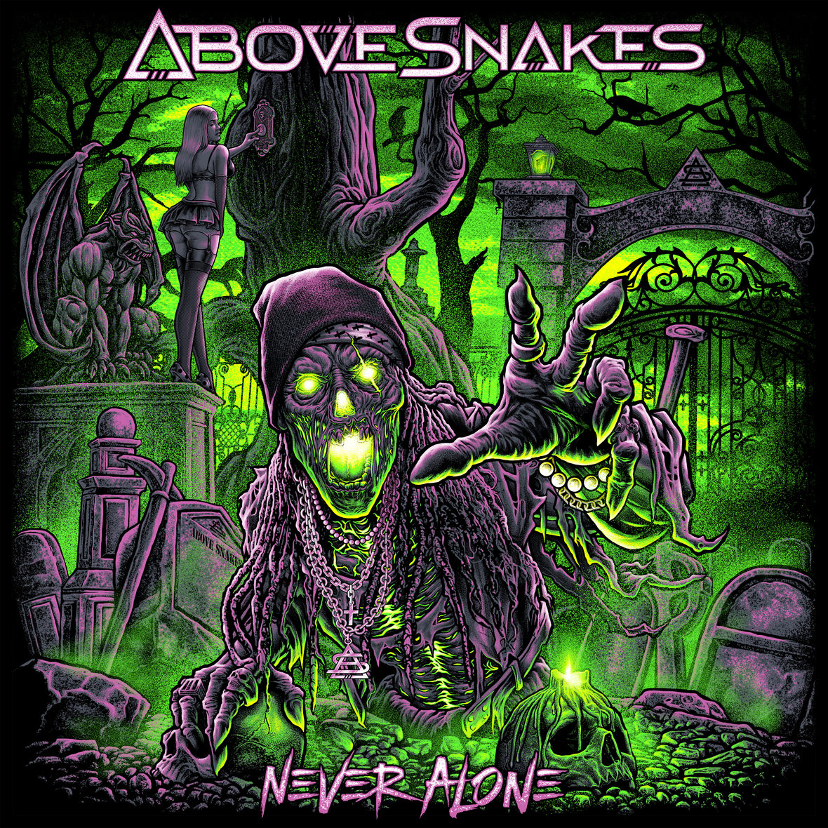 Above Snakes - Never Alone Single Art HD Preview