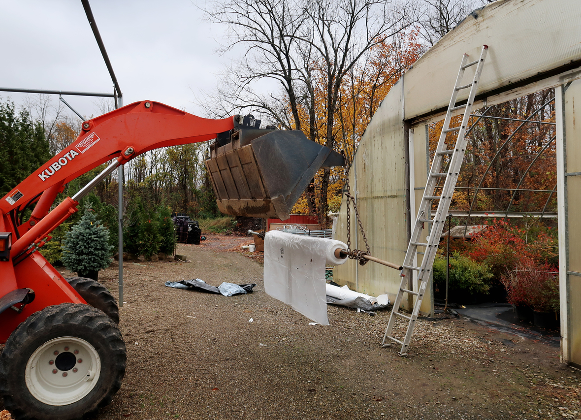 covering greenhouse tractor plastic house 9 fall 2020