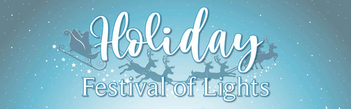 Holiday Festival of Lights website header