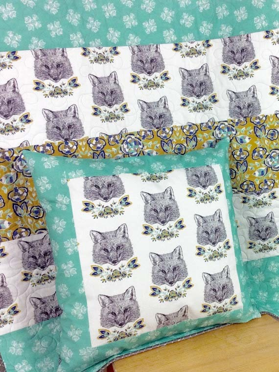 Forest Fables Quilt and Pillow