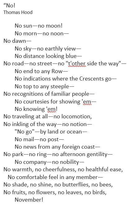 no poem