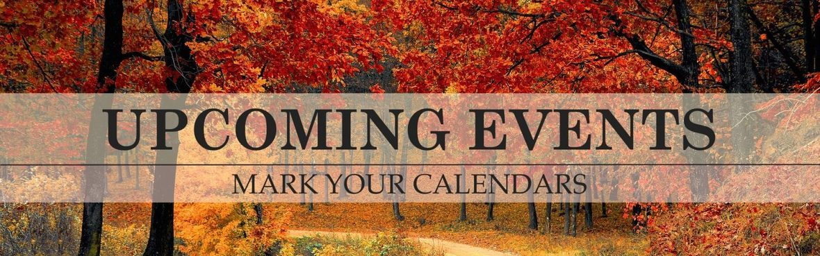 Upcoming events fall