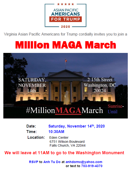 Maga march flyer image