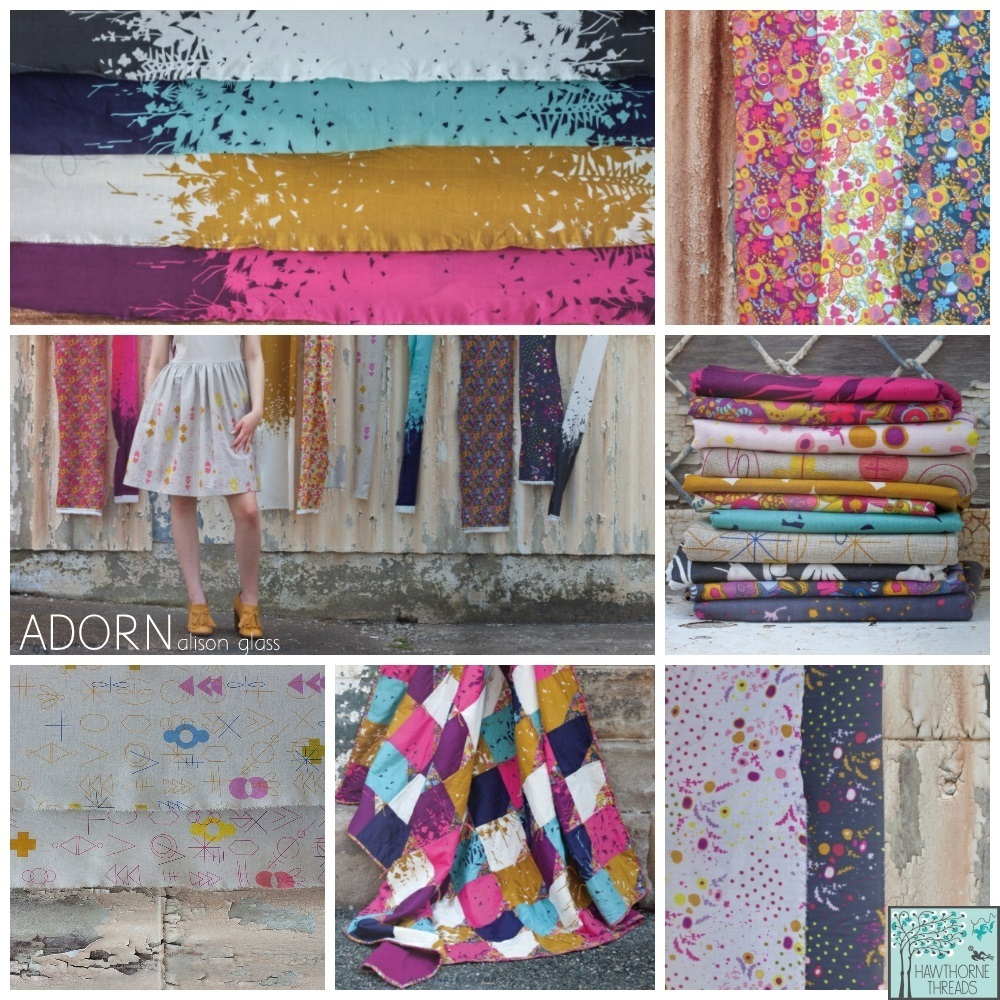Adorn fabric poster