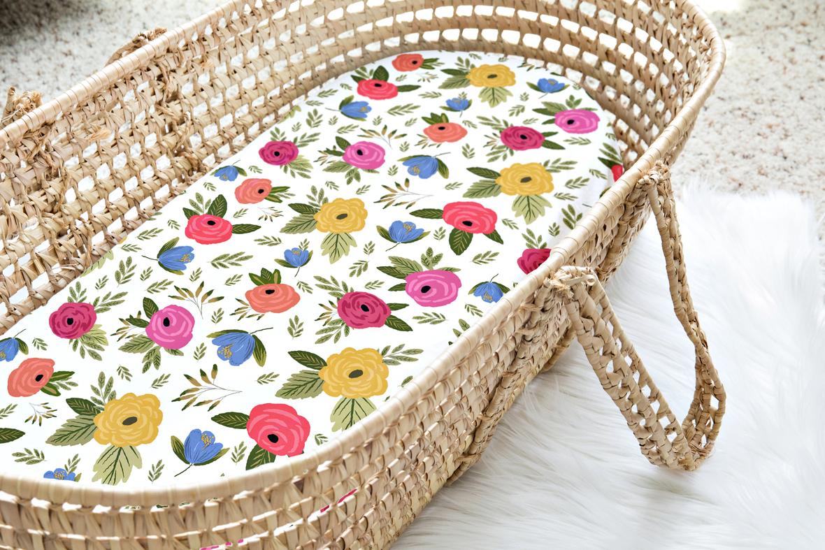 Moses Basket Floral