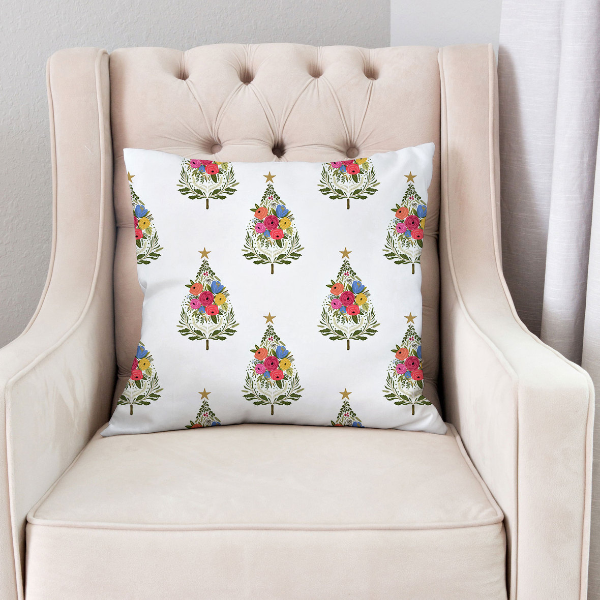Pillow-on-Pink-Chair-Large-Trees