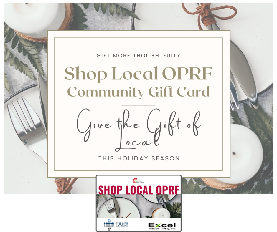 shop local holiday image with card