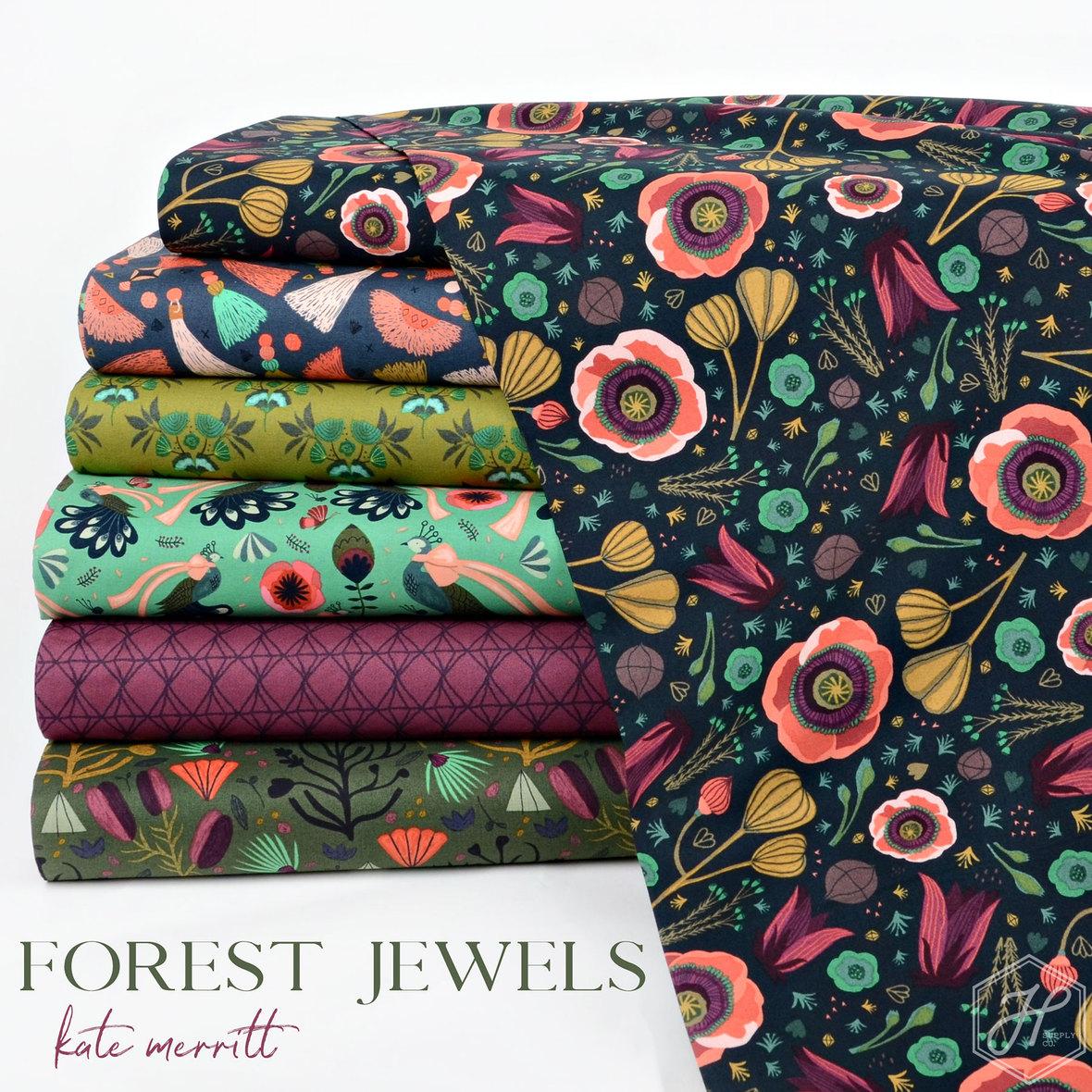 Forest-Jewels-Fabric-Kate-Merritt-and-Cloud-9-at-Hawthorne-Supply-Co