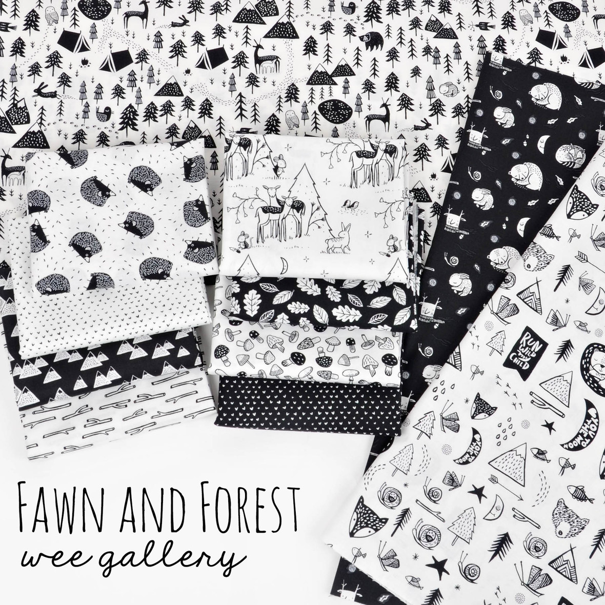Fawn and Forest fabric dear stella at hawthorne