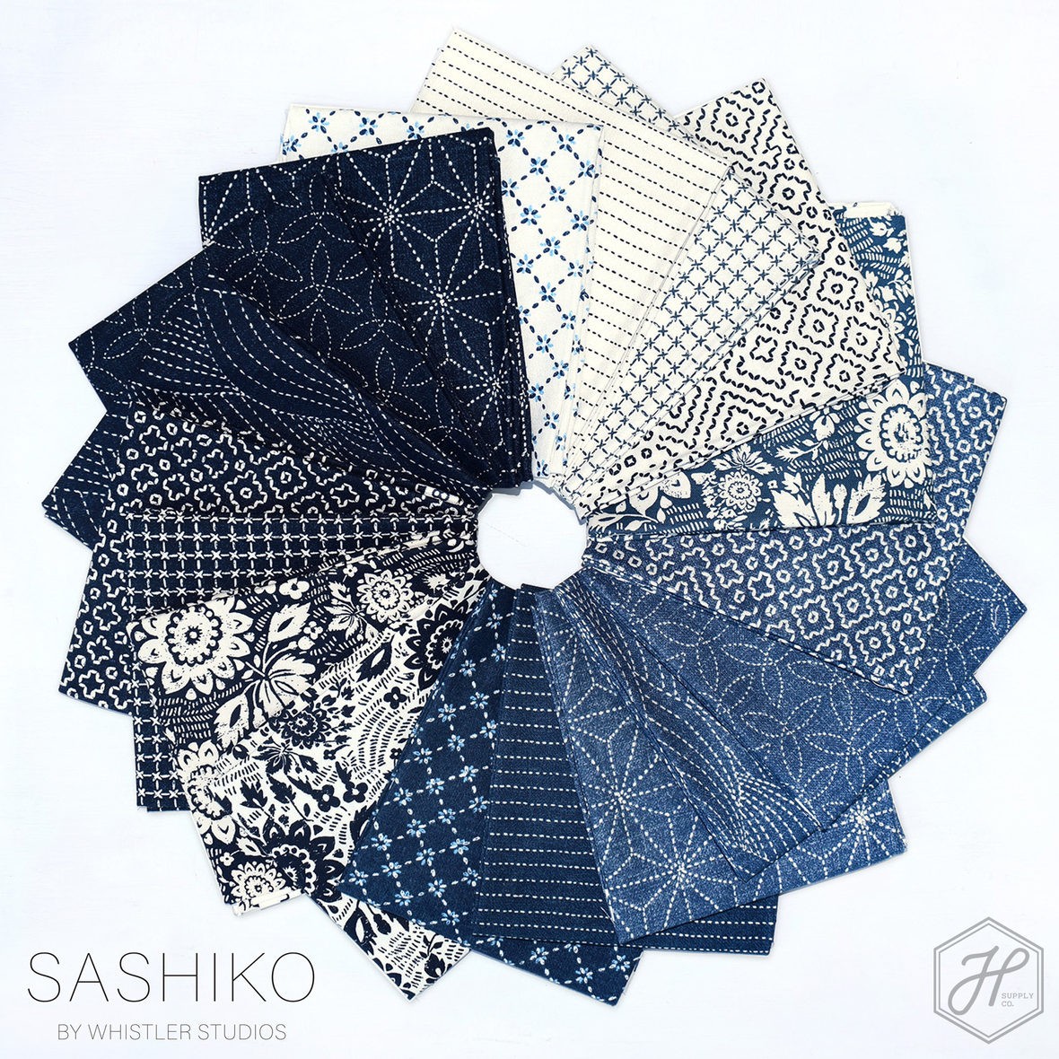 Sashiko fabric poster
