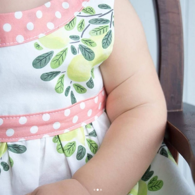 Paisley and Peppermint Botany Fabric Dress
