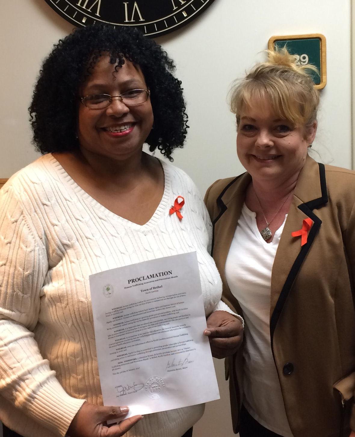 HTAM Mayor Brown Sharon with Proclamation