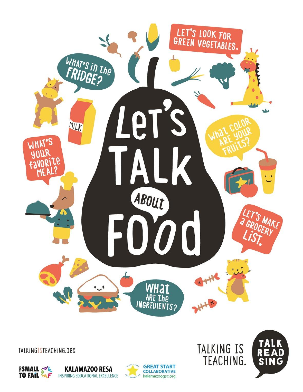 KalCo Talking is Teaching FOOD poster Page 1