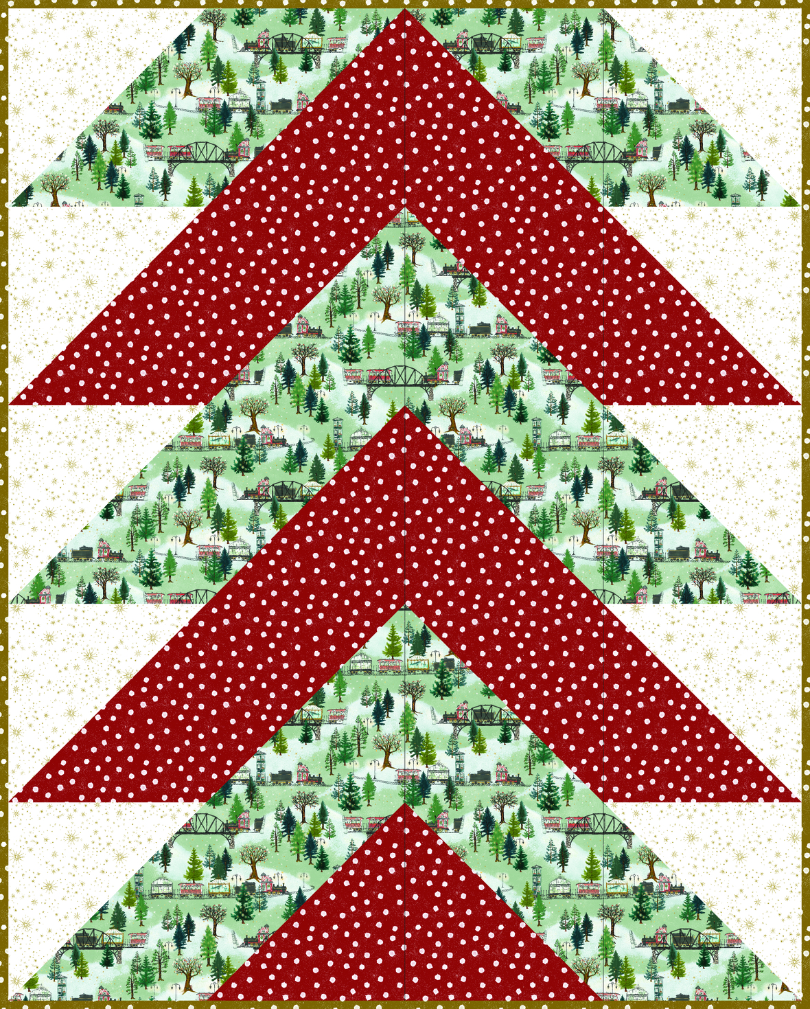 Pine Falls Quilt - Christmas Trains 4
