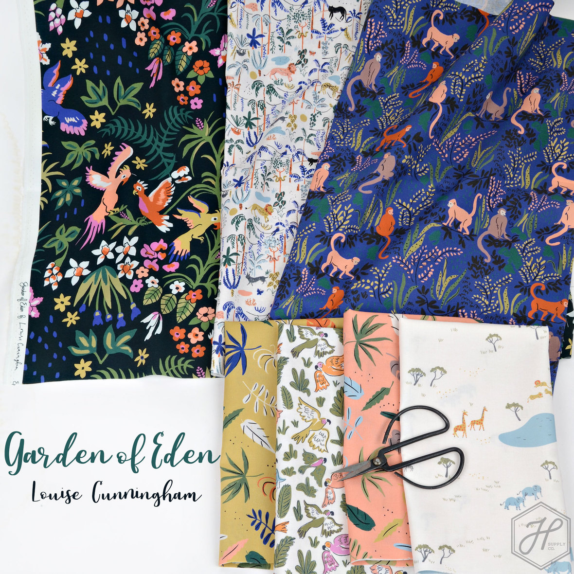 Garden-of-Eden-Fabric-Poster-Louise-Cunningham-for-Cloud-9-at-Hawthorne-Supply-Co