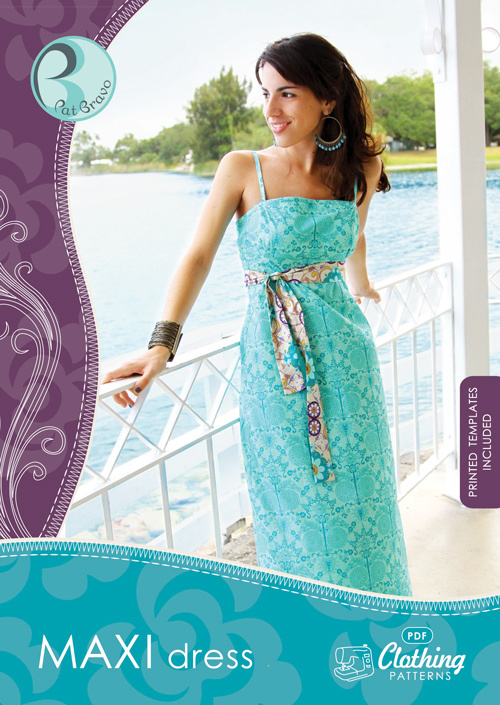 patricia bravo maxi dress sewing pattern