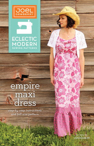 joel dewberry empire maxi dress sewing pattern