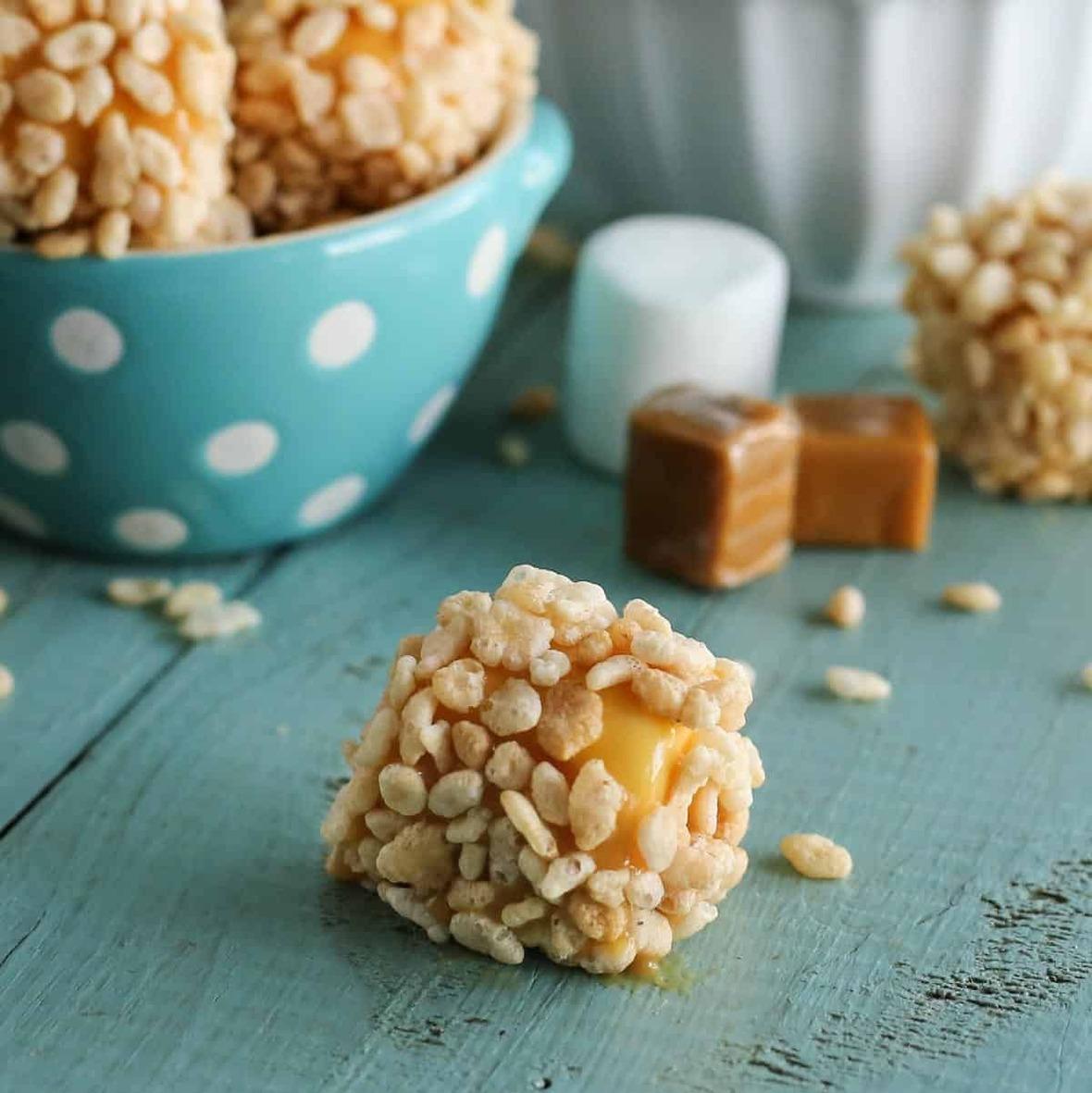 marshmallow-caramel-rice-krispies-puffs AFarmgirlsDabbles AFD-8