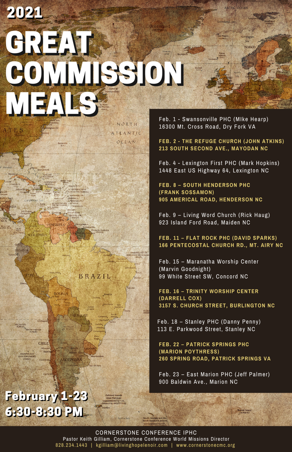 2021 Great Commission Meals