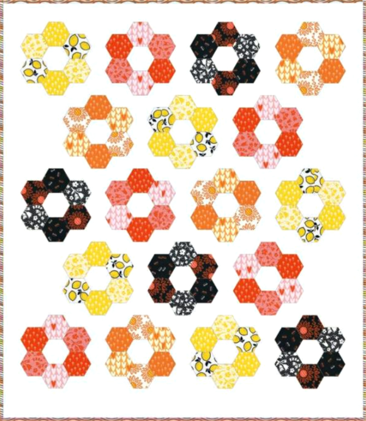 Hexie Blooms Quilt from Cotton and Joy