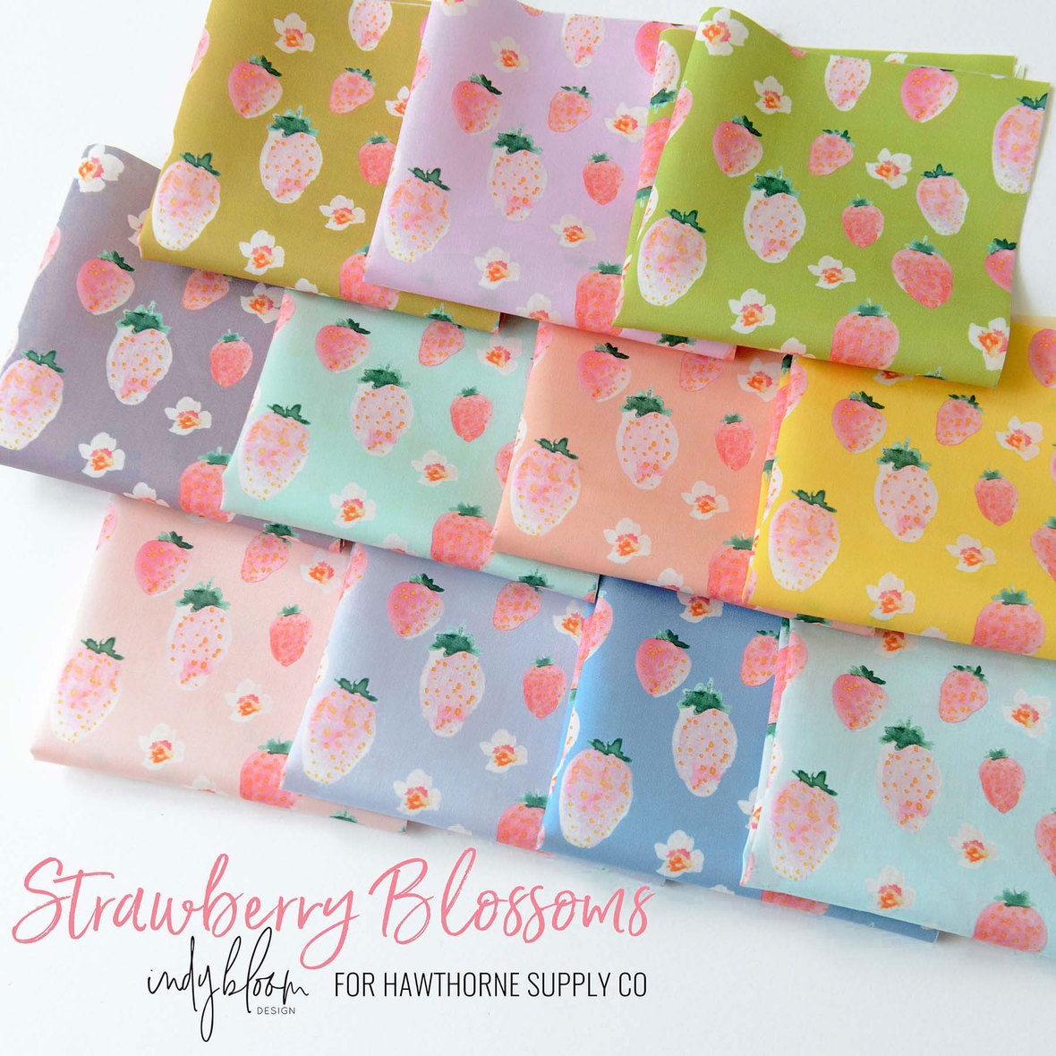 New-Strawberry-Blossoms-Fabric-Poster-Indy-Bloom-for-Hawthorne-Supply-Co