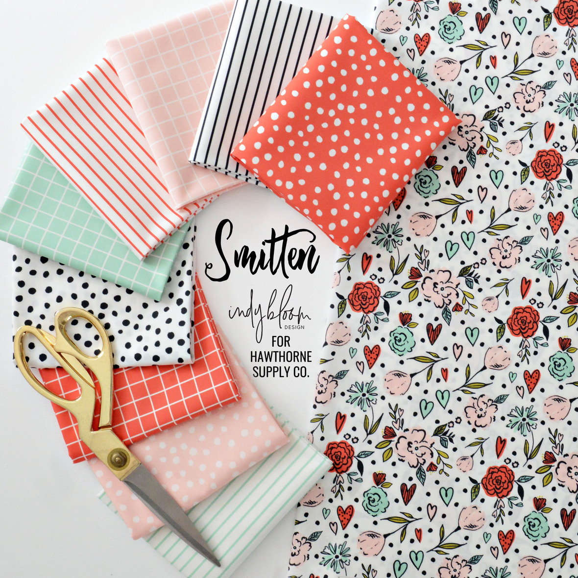 Indy Bloom Smitten Fabric Poster