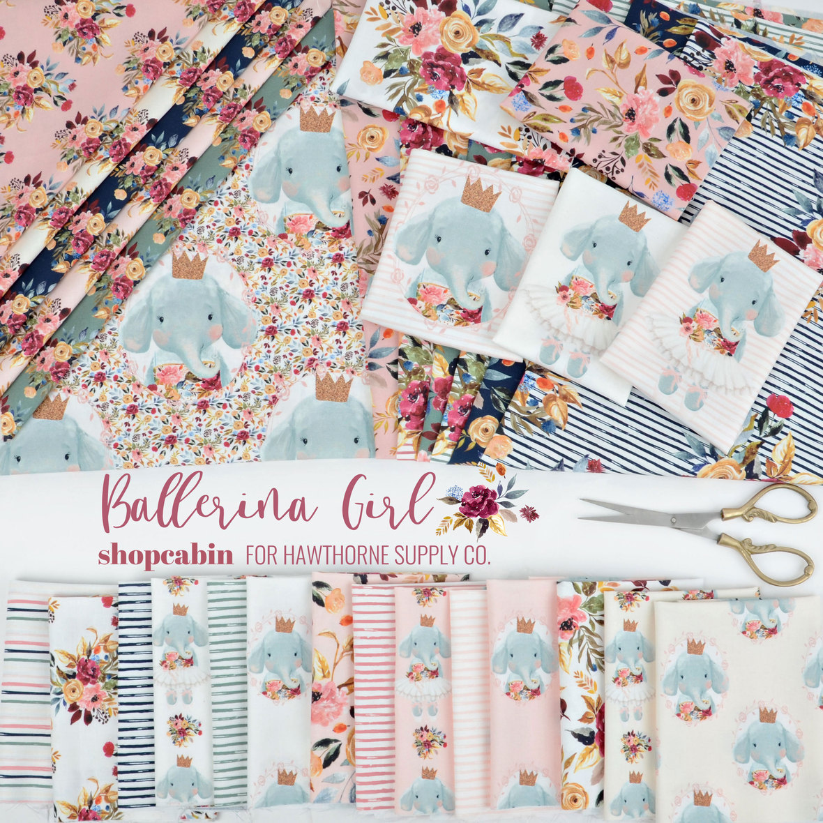 Balleriba-Girl-Shopcabin-Elephant-fabric-for-Hawthorne-Supply-Co-edit