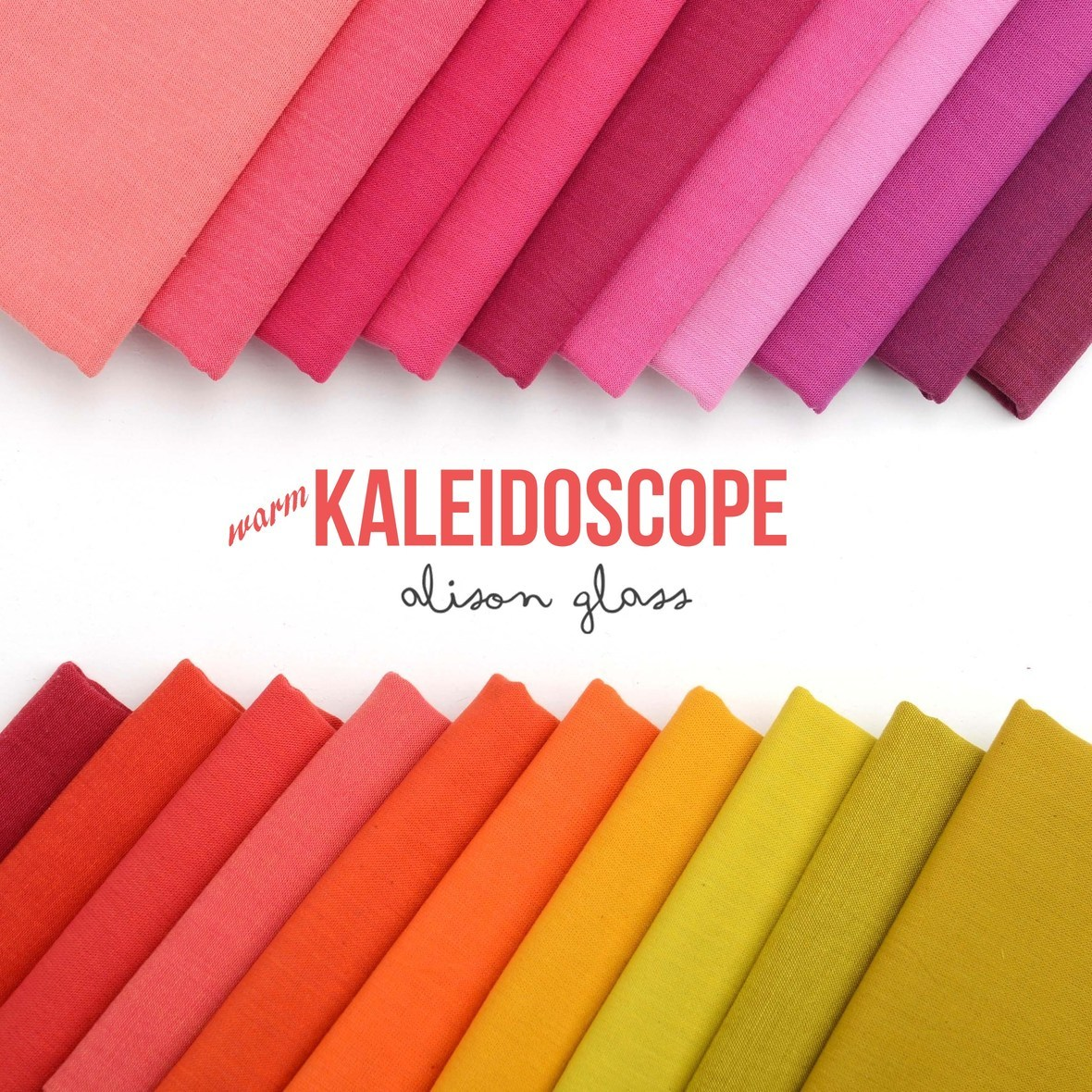 Kaleidoscope Warm Fabric Poster Alison Glass at Hawthorne Threads