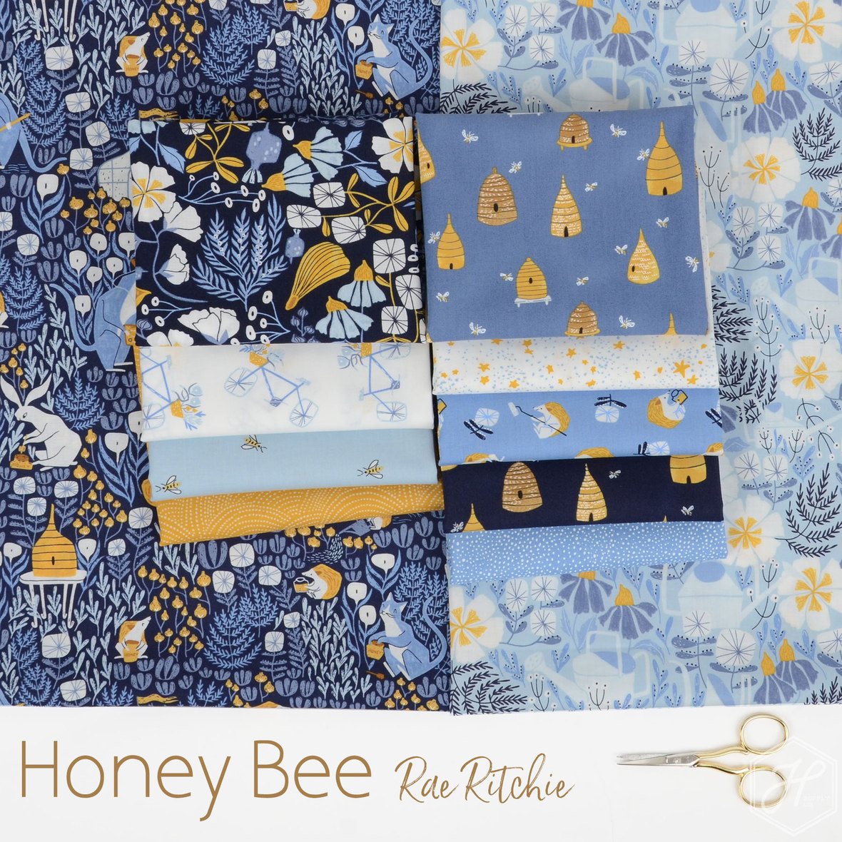 Honey-Bee-Fabric-Poster-Rae-Ritchie-for-Dear-Stella-at-Hawthorne
