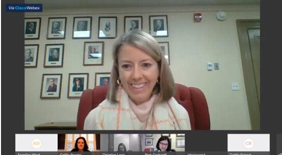 HTC Dec Meeting Pic of Jennifer 2020